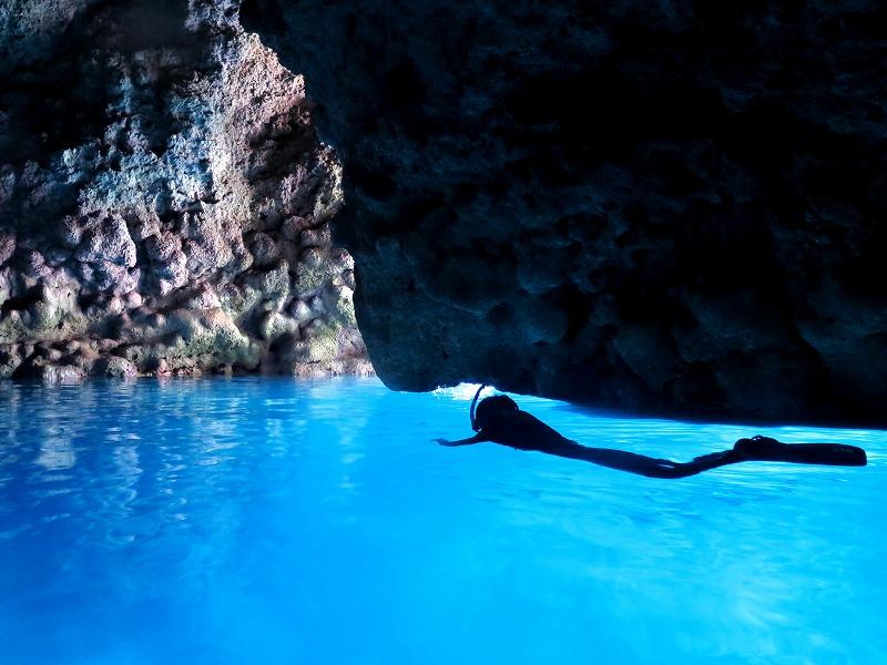 青の洞窟スノーケル(ビーチorボート)